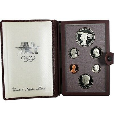 1983 Olympic Prestige Proof Coin Set US Mint