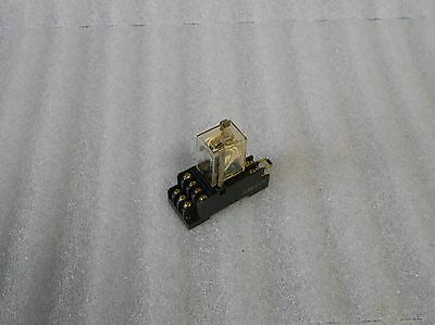 Omron 14 Pin Relay, # MY4Z, 24 VDC Coil. w/Base, Used, Warranty
