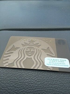 Starbucks Gift Card NEW 2016 Braille Brown Siren Mermaid Logo Holiday No $ Value