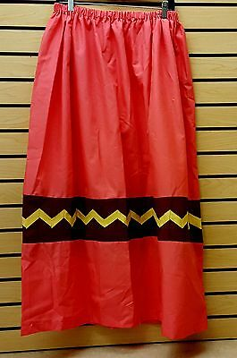 Nice Great Cond. Xxl Pink Cotton Seminole Native American Indian Patchwork Skirt