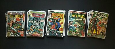 45 Issue Bronze Age Marvel Lot - Defenders Man-Thing Spider-Man - Mark Jewelers