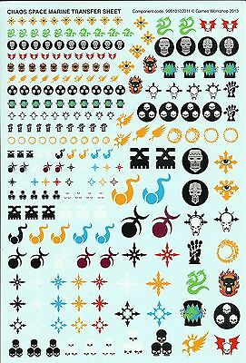 40K Thousand Sons Rubric Marines Transfers Decal Transfer Sheet
