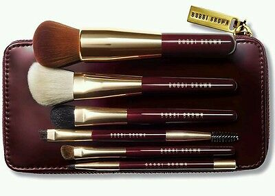 Bobbi Brown Limited Edition Christmas 2016 Burgundy Travel Brush Set *Brand New*