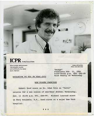 Nurse 1981 Original CBS TV Press Photo - Robert Reed