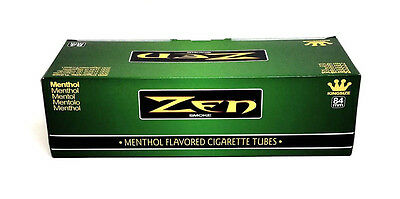Zen Menthol King Cigarette Tubes (box) 200 Filter Tubes NEW Green Wholesale USA