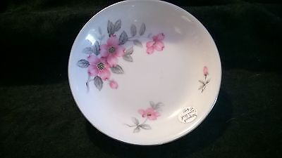 "Harmony House DOGWOOD 5 1/2"" Berry Sauce Bowl Platinum Trim"