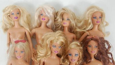 Lot Of 8 Nude 90's Barbie & Friends Dolls  For Play Or Ooak (Lot C)
