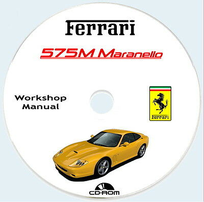 Workshop Manual,FERRARI 575M Maranello,Error Codes + spare parts.