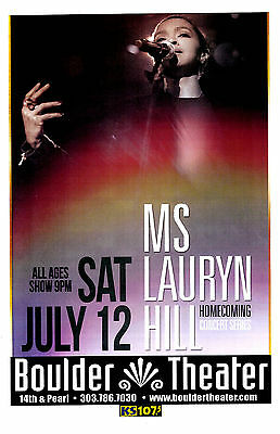 Ms LAURYN HILL 2015 Boulder Theater 11x17 Concert Flyer / Gig Poster