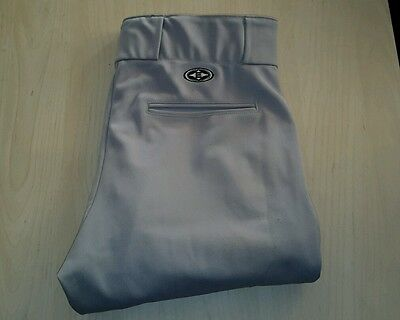 Men's Easton Baseball/Softball Pants - Grey Size Large One Pair - Great Cond!
