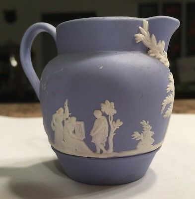 Small Blue & White Wedgwood Pitcher Decorative Vintage