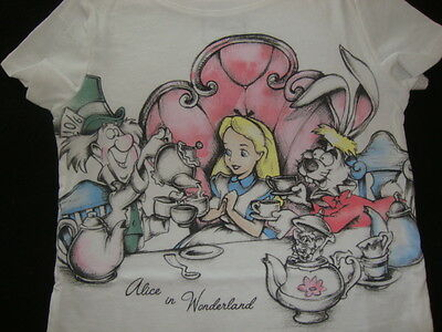 Old Navy /  Disney Alice In Wonderland Graphic Tee Shirt Nwt Join The Tea Party