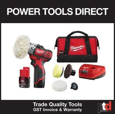 New Milwaukee 12V Cordless M12Bps-0 Polisher Kit - 3Amp Battery/charger + Bonus
