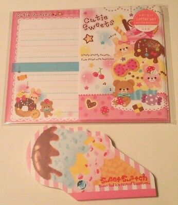 Gaia Co Cutie Sweets Girly Desserts Kawaii Letter Set Memo Lot stationery Japan