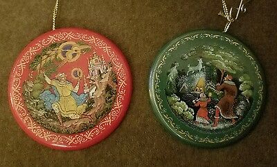 LAST LISTING2 Tianex fairytale Hand Painted Porcelain Russian Christmas Ornament