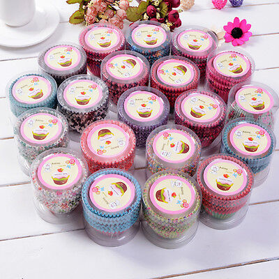100X Baking Cups Paper Cake Cupcake Liners Baking Muffin Cup Case Birthday Party