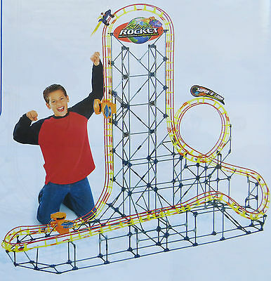 K'NEX Rippin' Rocket Roller Coaster Building System Turbo Boosters 5 Ft Tall 10+