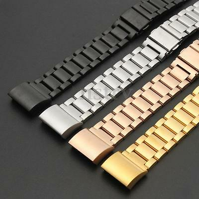 Replacement Stainless Steel Bracelet Wristband Strap Band For Fitbit Charge 2