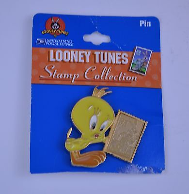 Usps Looney Tunes Stamp Collection Tweety Bird With 32 Cent Bugs Bunny Stamp Pin