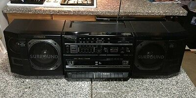 Rare Vintage Fisher Ph-W803 Boombox Ghettoblaster Radio Tape Cassette Player