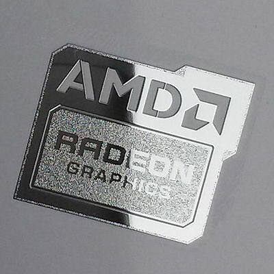 AMD Radeon Graphics Chrome Metal Sticker Case Badge | New Version | USA Seller!
