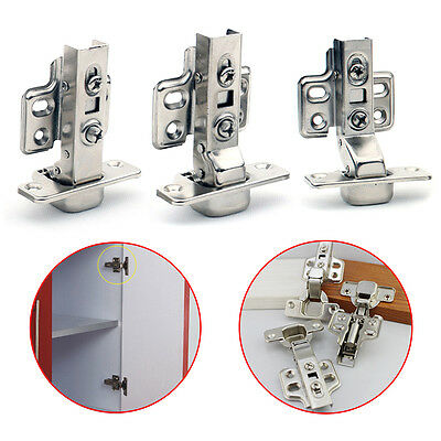 1PC Stainless Steel Soft Close Hydraulic Hinges Cabinet Kitchen Door Hinges New
