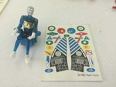 1976 Mego Micronauts Blue Time Traveller and Hydro Copter