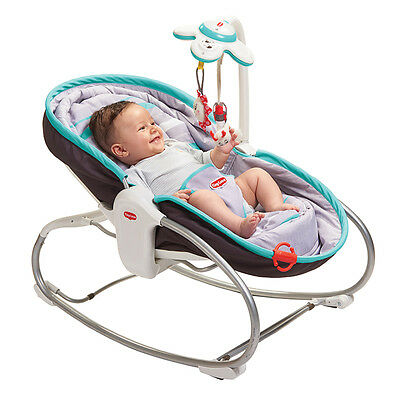 Tiny Love 3-in-1 Rocker in Grey Turquoise, Baby Sleeping Swing Napper