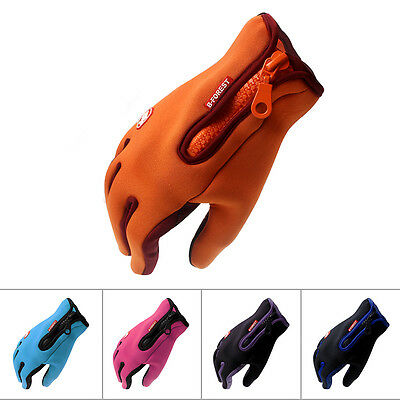 Motorcycle Racing Skiing Windproof Winter keep Warm Soft Touch Screen Gloves