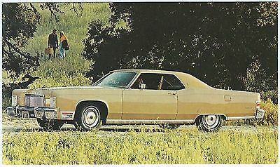 1974 LINCOLN Continental 2-Door COUPE´ Dealer NOS Promotional Postcard UNUSED VG