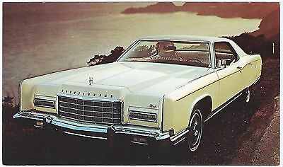 1973 LINCOLN Continental 2-Door COUPE´ Dealer NOS Promotional Postcard UNUSED VG