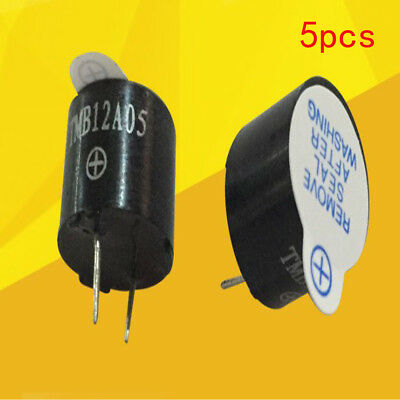 Black TMB12A05 waterproof electromagnetic type active buzzer DC5v 5PCS