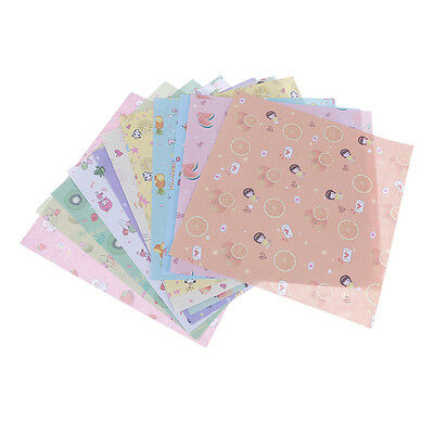 70 Pcs 14.2*14.2CM Square Folding Cane Origami Papers DIY Craft Lucky Wish Paper