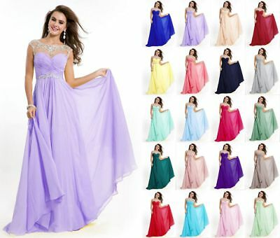 Long Formal Evening Prom Party Dress Bridesmaid Dresses Ball Gown Cocktail 6-18