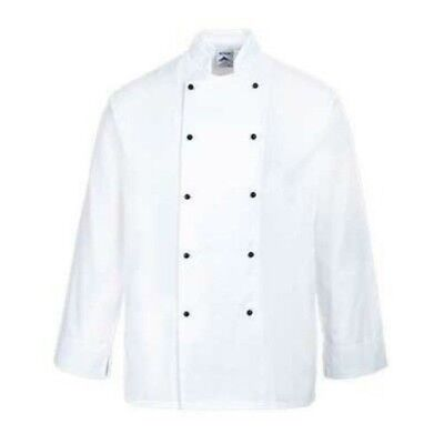 Portwest White Cornwall Long Sleeved Chefs Jacket Size Xl (New)