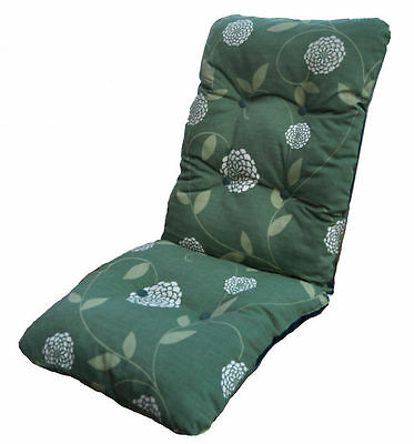 Replacement Deluxe Thick High Back Garden Chair Thick Cushion Pad Mount Green
