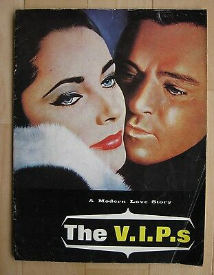 THE V.I.P.S 1963 Rare souvenir movie programme Rod Liz Taylor Burton Welles