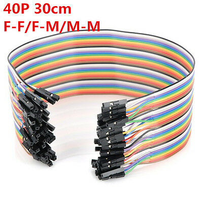 40pcs 30cm Jumper Wire Dupont Cable Dupont Line For Arduino F/F F/M M/M
