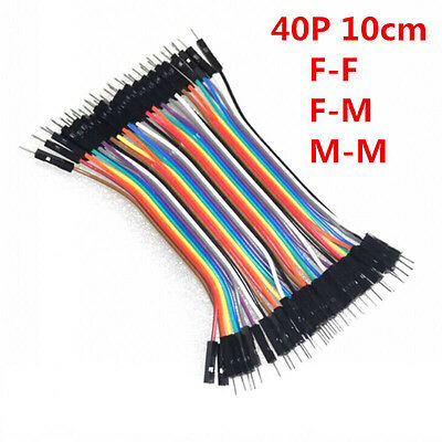 40pcs 10cm Jumper Wire Dupont Cable Dupont Line For Arduino F/F F/M M/M