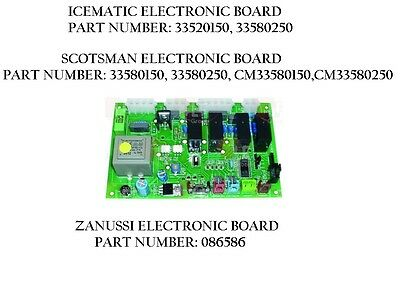 Icematic Scotsman Zanussi Electronic Board For Ice Maker