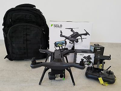 3DR SOLO DRONE + GIMBAL 3-AXIS + GOPRO HERO 4 Black