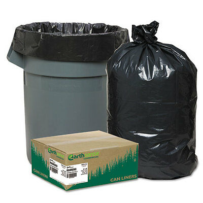 Earthsense Commercial Recycled Can Liners, 55-60gal, 1.65mil, 38 x 58, Black...