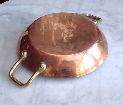 VICTORIAN KITCHEN COPPER SAUTE PAN by lecellier villedieu OF FRANCE