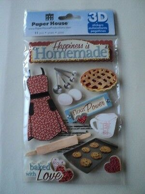 Paper House Happiness Is Homemade 3D Stickers Bnip *new*
