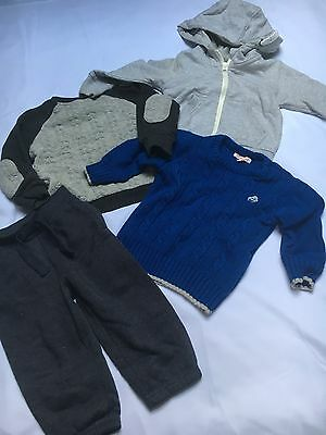 Winter Boys Bundle Of Clothes Size 12-18 Months Used Hoodie Jumper