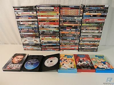 Lot of 126 DVD Movies - Dexter, Family Guy, Rescue Me, Glee, Transformers