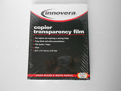 innovera Transparency Film for Copiers (100 Sheets) 8-1/2 x 11 SEALED  FreeShip