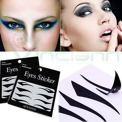 Sticker eyeliner adesivo stencil linea occhi gatto palpebra trucco make up donna