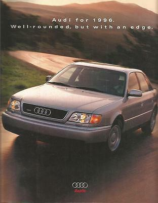 ADVERTISING SALES BROCHURE - 1996 – AUDI AUTOMOBILES – 16 Pages