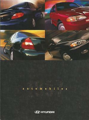 ADVERTISING SALES BROCHURE - 1996 – HYUNDAI AUTOMOBILES – 16 Fold-out.